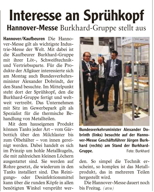 Beitrag AZ Hannover-Messe